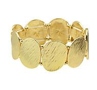 Gold Color Stretch Wide Metal Bracelets