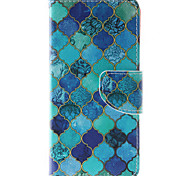 Blue Diamond Pattern PU Leather Full Body Case with Stand and Card Slot for Huawei Ascend P9 Lite/P8 Lite