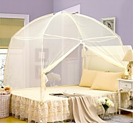 cheap -Mosquito Net  Mongolian Yurt Polyester For Twin / Full / Queen / King Bed Pink Blue Yellow White