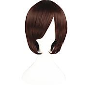 Cosplay Wigs The Prince of Tennis Bismarck Waldstein Brown Short / Straight Anime Cosplay Wigs 35 CM Heat Resistant Fiber Male / Female