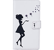 PU Leather Material Black Girl Pattern Phone Case for iPhone 6s Plus / 6 Plus/6S/6/SE / 5s / 5