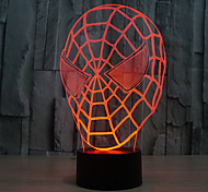 Spider-Man Touch Dimming 3D LED Night Light 7Colorful Decoration Atmosphere Lamp Novelty Lighting Light