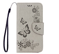 PU Leather Material Embossed Butterfly Flower Phone Case for Samsung Galaxy S7 Edge S7 S6 Edge S6 S5 S5Mini S4 S4Mini