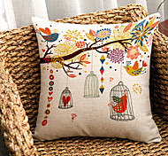 1PC Household Articles Back Cushion Novelty Originality Fashionable Floral Graphic Prints Pillow Case