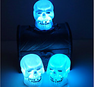 Недорогие -продажа Хэллоуин украшения принадлежности черепа ночь свет случайный цвет