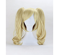50cm Code Geass ANYA Light Blonde Curly Synthetic Wig For Women Double Ponytail Removable Cosplay Wigs Costume Wig