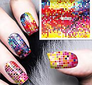 impressão forma padrão de cor foco impressão de transferência de água adesivos de unhas