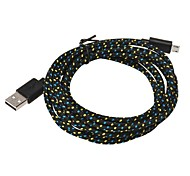 2M 6.6FT Braided Fabric Micro USB Sync Adapter Charger Cable for Android Phone