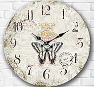 1PC European-Style  Wooden   Wall Clock Bedroom Clock  (Pattern is Random)