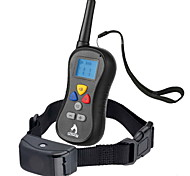 Dog Bark Collar / Dog Training Collars Anti Bark Waterproof 300M Remote Control LCD Display Shock/Vibration Solid Black