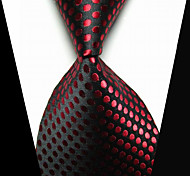 cheap -Men's Tie Clips Fashion Black Red Fabric Tie Bar