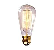 st58 60w e27 bulbo de lámpara de edison filamento incandescente retro vintage (ac220-240v)