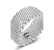 Недорогие -Жен. Серебристый Обручальное кольцо / Кольцо - Multi-Wear способы / Двойной слой / С перекрещивающимися бретелями Серебряный Кольцо