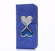 Flowing Quicksand Liquid Heart Pattern PU leather Case For Apple iPhone 7 7 Plus 6s 6 Plus SE 5s 5