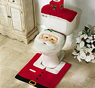 Merry Christmas And Happy New year Best Christmas Gift & Christmas Decorations Bathroom Toilet Seat Carpet