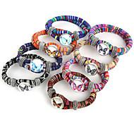 Beadia 1Pc Snap Button Bracelet Butterfly Wrap Rope Cord Bracelet