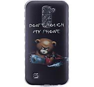 cheap -TPU Material Bear Pattern Painted Slip Phone Case for LG K10/K8/K7/K5/K4/G5/G4/G3