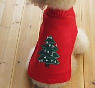 Cat Dog Sweater Dog Clothes Keep Warm Christmas New Year's Snowflake Black Yellow Red Blue Costume For Pets