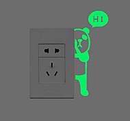Недорогие -Животные Наклейки Светящиеся наклейки Наклейки для выключателя света Украшение дома Наклейка на стену Переключения