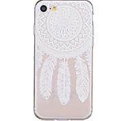 TPU Material White Dream Catcher Pattern Painted Relief Phone Case for iPhone 7 Plus/7/6s Plus / 6 Plus/6S/6/SE / 5s / 5