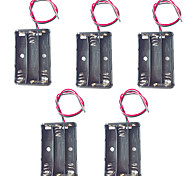 5PCS 3 AAA Battery Box 4.5V AAA Battery Box With Red And Black Wire