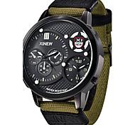 cheap -Men's Military Watch Luxury Brand canvas Casual Analog Display Date Water Proof Men's Quartz Watch  Clock Sport Military Army Watch Wrist Watch