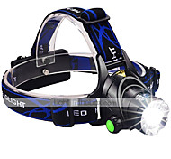 LED Flashlights / Torch Headlamps Headlight 3000 lm 3 Mode Cree XM-L2 Rechargeable Waterproof High Power Ultra Bright Zoomable Helmet Light 2x18650