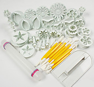 1 Set Of 46 Pcs DIY / High Quality / Cake Decorating / Baking Tool / Fashion For Cookie / For Chocolate / For Cupcake / For Cake ABS