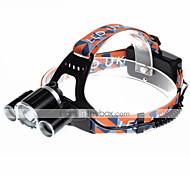 U'King ZQ-X820 Lanternas de Cabeça Faixa Para Lanterna de Cabeça LED 5000LM Lumens 4.0 Modo Cree XM-L T6 Baterias não incluídas Alarme