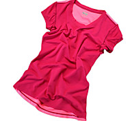 Women's Running T-Shirt Short Sleeves Quick Dry Breathable Comfortable Reflective Strips Sweat-wicking T-shirt Sweatshirt Top for Yoga