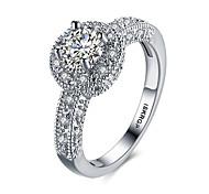 preiswerte -Damen bezaubernd Sterling Silber / Zirkon / Kubikzirkonia Statement-Ring / Bandring - Kreisform / Geometrische Form Luxus / Böhmische /