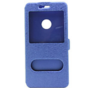cheap -Double Window View Flip Wallet Cover Leather Case For Huawei P+MATE Series Touch Answering Cover Case