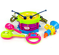 cheap -Drum Set Tambourine Speaker Hand Bells Educational Toy Toy Musical Instrument Drum Set Children's