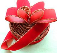 2pcs Новогоднее украшение для диаметра домой партии 3.5 * 200см Navidad новый год поставок шелковой лентой