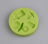 Недорогие -бутылка ребенка и форма силикона формы соски для детского торта