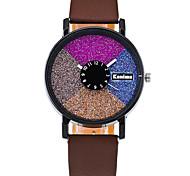 cheap -Women's Quartz Casual Fashion Watch PU Belt Round Alloy Multi-colored Shining Dial Watch Cool Watch Unique Watch