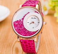 Mulheres Relógio de Moda Relógio de Pulso Relógios Femininos com Cristais Quartzo / PU Banda Casual Preta Branco Azul Vermelho Marrom