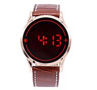 Муж. Спортивные часы электронные часы Цифровой LED Сенсорный дисплей Кожа Группа С подвесками Черный