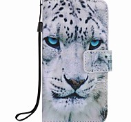 For Samsung Galaxy A5 (2016) A3 (2016) Case Cover White Leopard Painting PU Phone Case