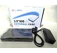 caja de disco duro de 2,0 hddenclosure caso SATA caja externa de 3,5 pulgadas de color al azar