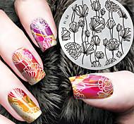 baratos -1 pcs Placa de Carimbar Modelo Estiloso / Fashion Nail Art Design Design Moderno Diário