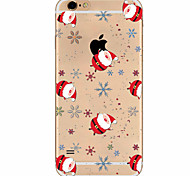 Custodia Per Apple iPhone X iPhone 8 Plus iPhone 7 iPhone 6 Custodia iPhone 5 Ultra sottile Fantasia/disegno Custodia posteriore Natale