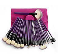 cheap -24 Makeup Brush Set Nylon Portable Travel Eco-friendly Professional Hypoallergenic Synthetic Full Coverage Wood Eye Face Lipstick Eyebrow