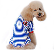 economico -Cane Tuta Pigiami Abbigliamento per cani Romantico Casual Marinaro Nero Rosso Blu Costume Per animali domestici