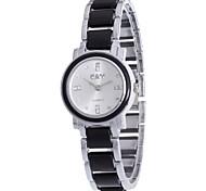 Women's Fashion Watch Bracelet Watch Simulated Diamond Watch Quartz / Alloy Band Bohemian Charm Casual Black White