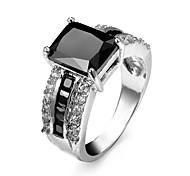 Men's Women's Couple Rings Ring Statement Rings AAA Cubic Zirconia Love Fashion Luxury Personalized Zircon Cubic Zirconia Rhinestone Alloy