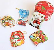 Недорогие -10pcs / серия мини-каваи Новогодняя открытка с бумажный конверт на день рождения рождественские подарки пригласительные открытки украшения
