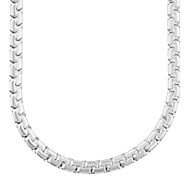 New Trendy 316L Stainless Steel Necklace Women/ Men GIft Never Fade Square Box Chain Necklaces Jewelry N50040