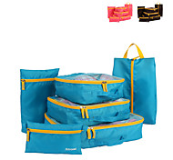 6 sets Travel Bag Travel Luggage Organizer / Packing Organizer Packing Cubes Travel Storage Multi-function Large Capacity for Clothes Net