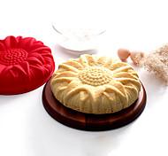 abordables -Moule de Cuisson Fleur Cartoon 3D Chocolat Tarte Gâteau Silicone Matériau écologique Economique La Saint Valentin Haute qualité